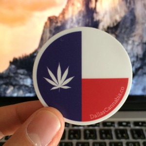 Texas Cannabis Flag Sticker